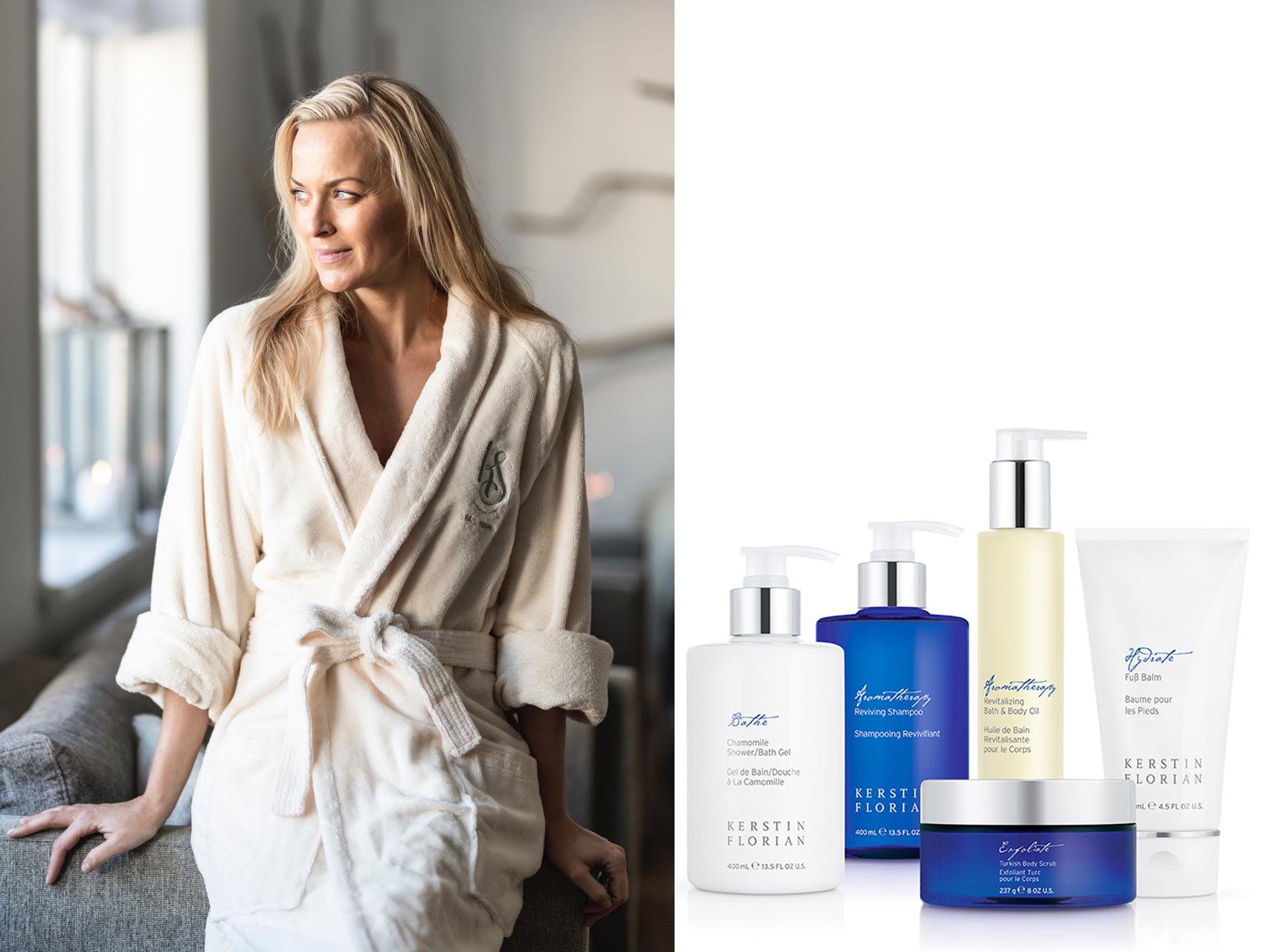 Camilla i badekåbe & Kerstin florian produkter Beauty Salon 04.04.19.jpg